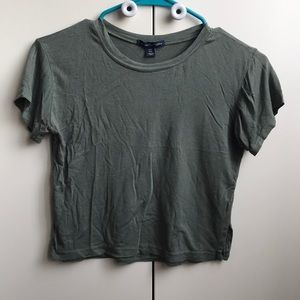 AE Olive Green Soft and Sexy Cropped Tee